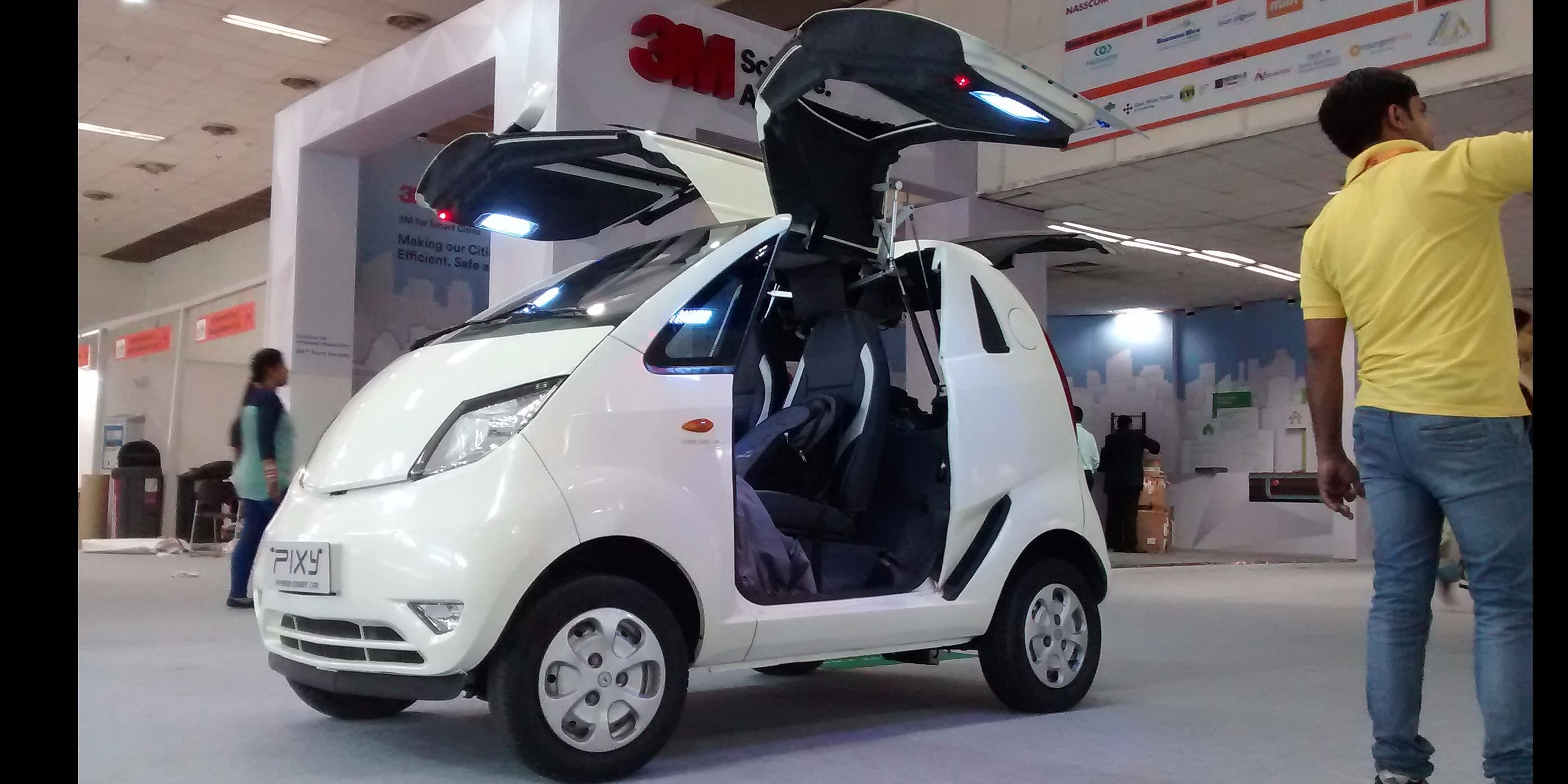 PIXY Smart Car at Smart Cities and Smart Transport Exhibition 2016, New Delhi, India