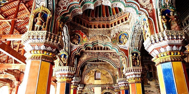Figure 4 Inside Dharbar hall, Tanjavur Palace