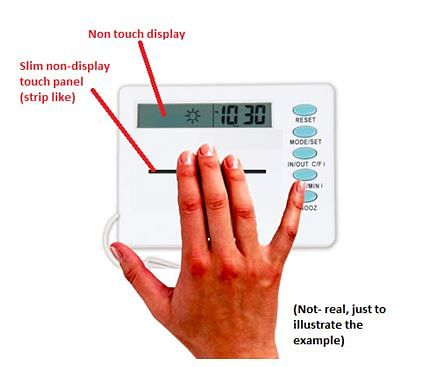 FIG:This is useful when in an hardware, we just want to provide a display-less touch-panel to reduce cost.