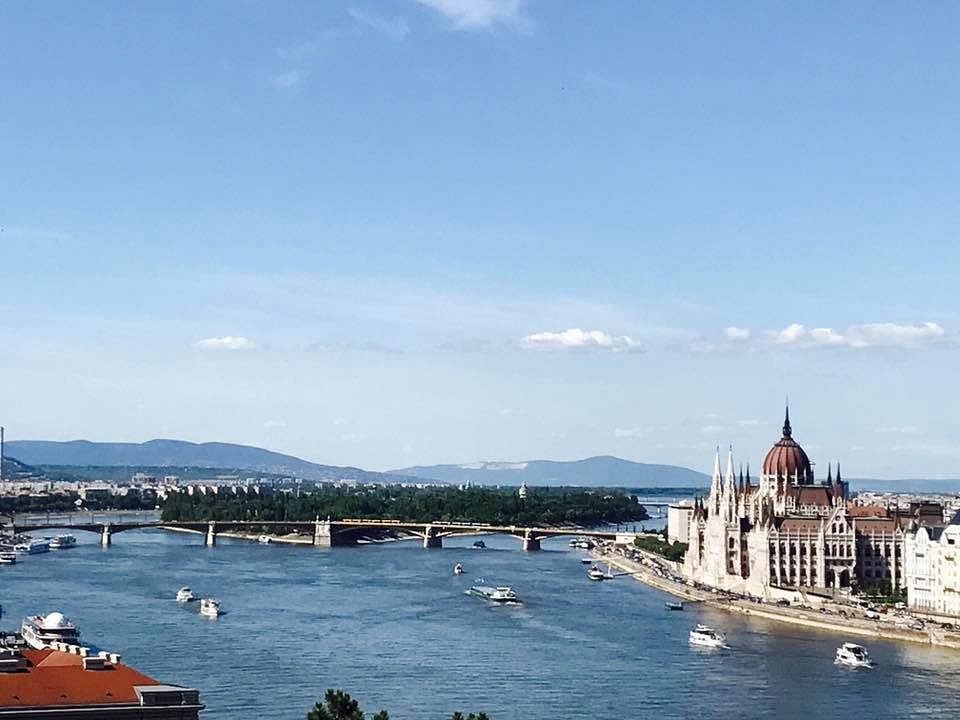 View of the Hungarian Parliament on the Danube river