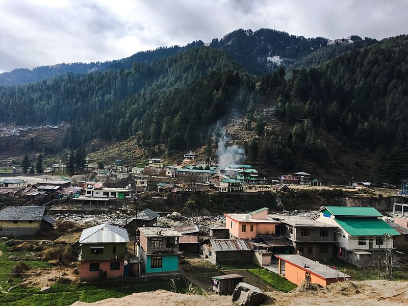 The view of Barot village<br>
