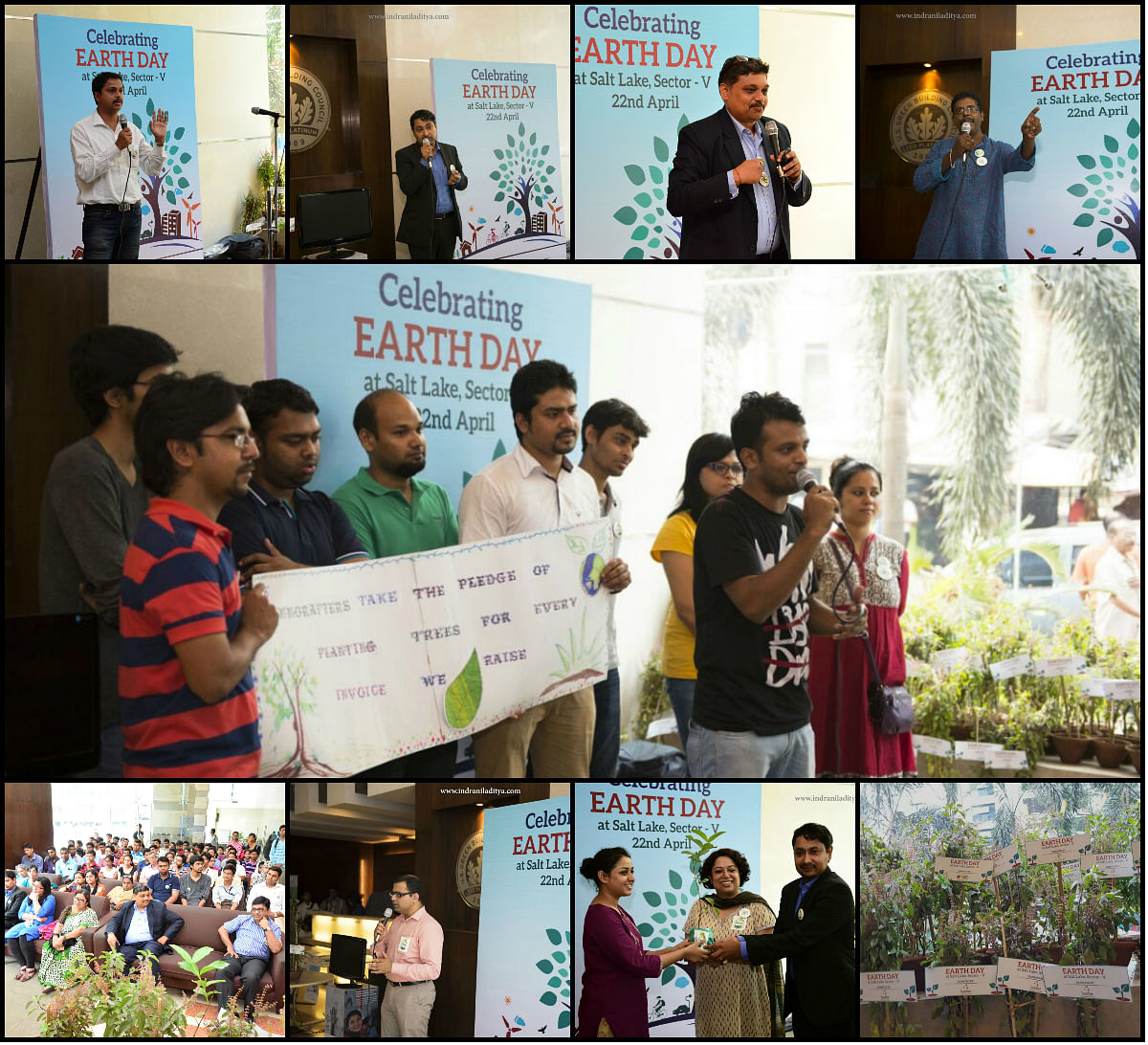 Innoraft taking the pledge to plant trees for every invoice they raise during the Earth Day Event