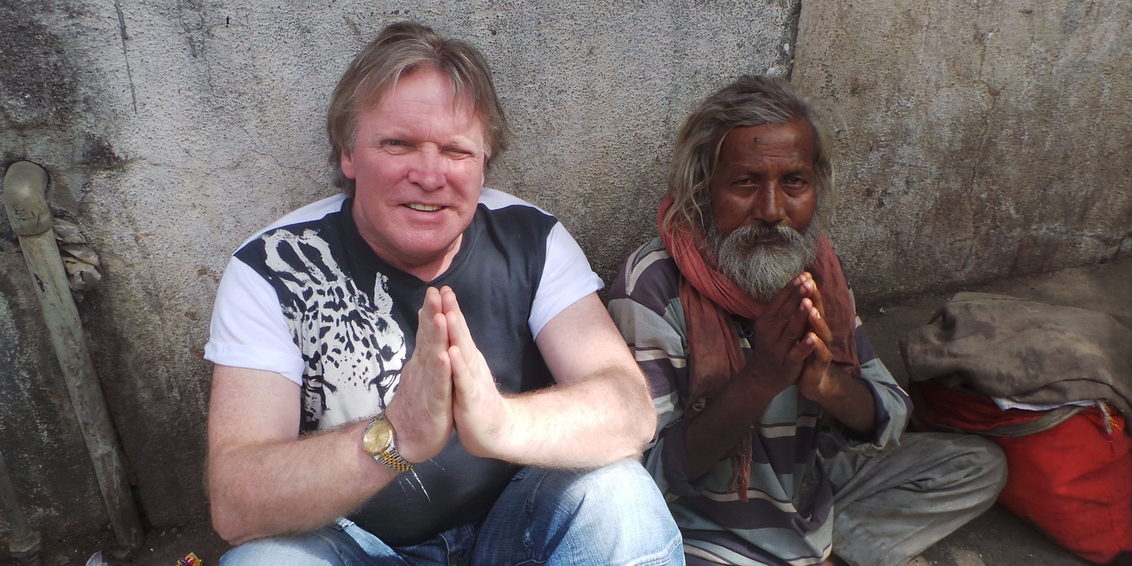 Dr. Patrick Treacy on one of his many visits to India