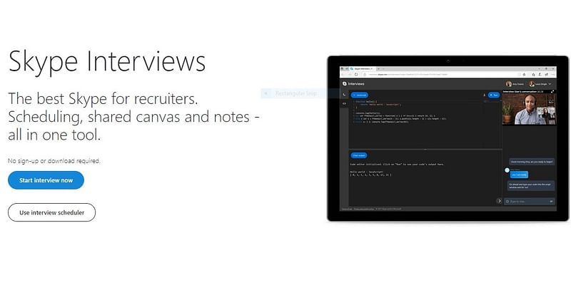 (Online code editor for interviews. Source- CodeShare)
