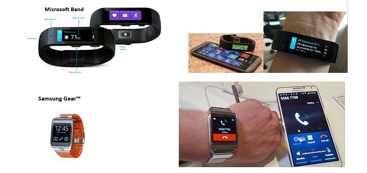 FIG:Some wearable-devices use alternative approach for text inputs – use of a mobile phone as the main input system.