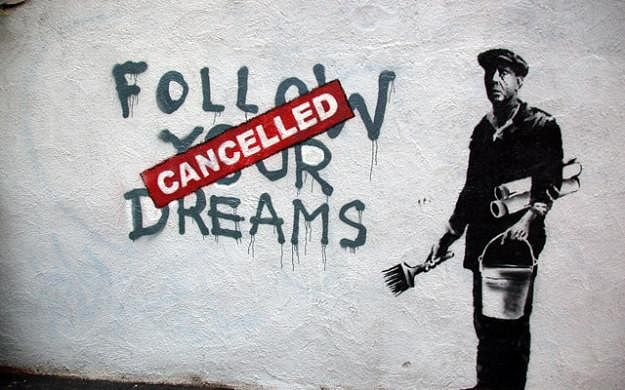 Image Source : Art - Follow your dreams by Banksy