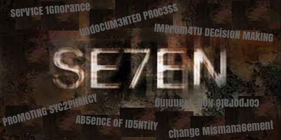 SEVEN Sins of SMEs