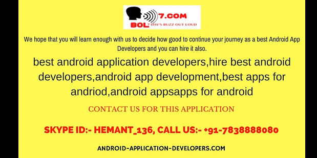 BEST ANDROID APPLICATION DEVELOPERS