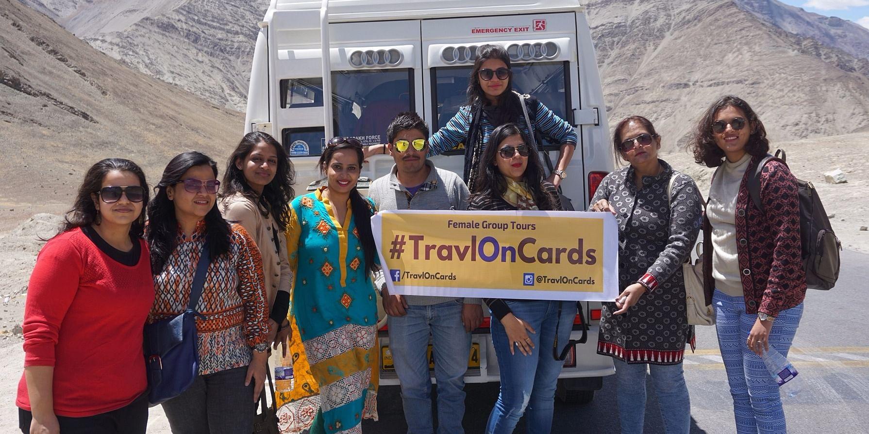 A stil from&nbsp;<b>TravlOnCards </b>&nbsp;Women Group Tour To Leh Ladakh &nbsp;in May 2016.