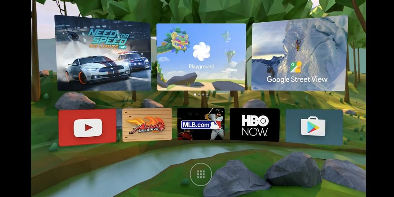 A Virtual Reality section on Android Play Store