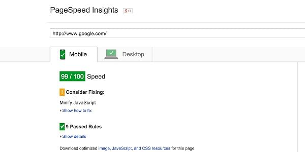 Make sure you have a good score in google page speed insights.