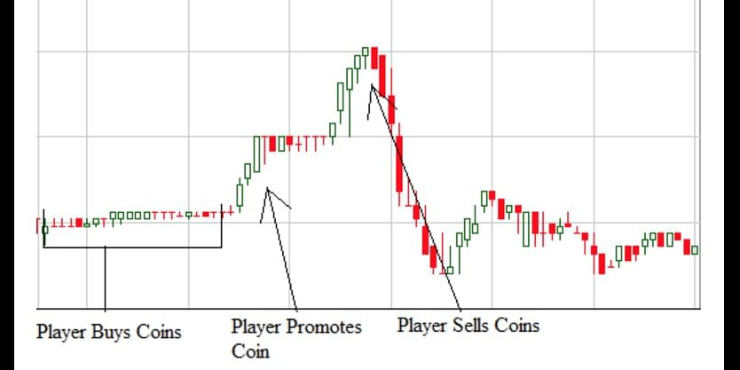 Price cycle of a pump and dump scheme