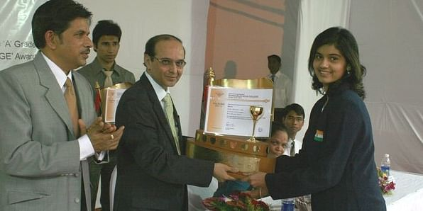 At one of the awards ceremony