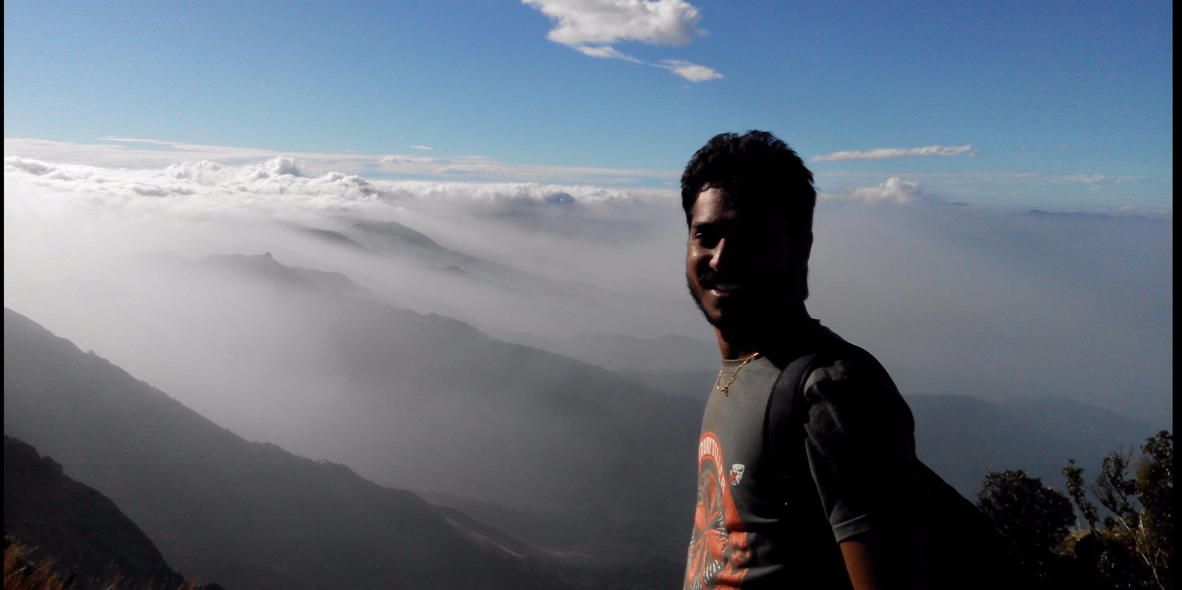 Climbing above the clouds - Kumara Parvata