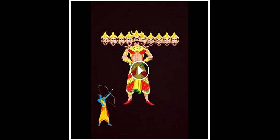 the Image  of Midnightcake's GIF which went viral on Dussehra