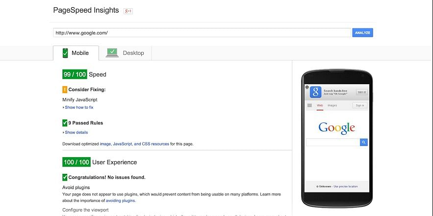 (PageSpeed Insights - Google Developers)