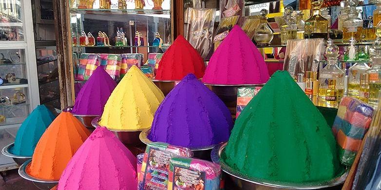 Colours of Kathakali Make-up; Incense shop, Mattancherry