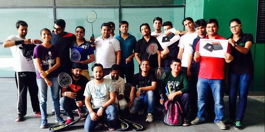Siddhant Jain (COO )and Shrey Jain (CEO) with his team